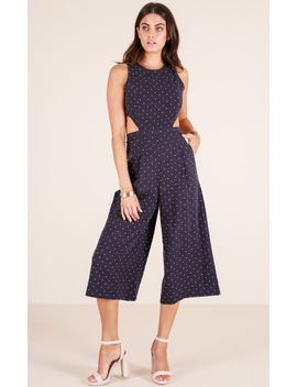 out-dream-yourself-jumpsuit-in-navy-polka-dot-linen-look by showpo-fashion