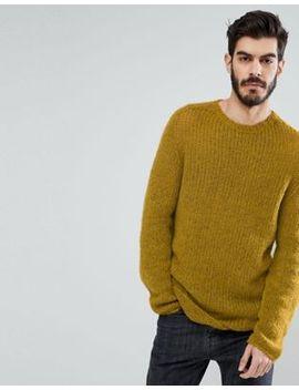 asos-mohair-wool-blend-sweater-in-mustard by asos