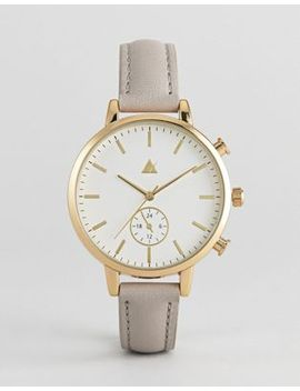 asos-triple-crown-leather-watch by asos-collection