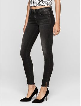skinny-faded-black-twisted-jeans by calvin-klein