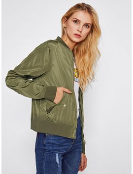 stand-collar-bomber-jacket by sheinside