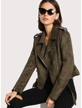 star-pattern-back-belted-hem-suede-biker-jacket by sheinside