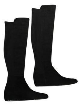 black-suede-over-the-knee-lander-5050-boots_booties by stuart-weitzman