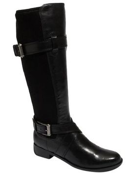 black-new-air-whitley-buckle-strap-riding-boots_booties by cole-haan