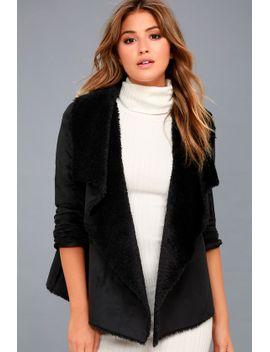 benette-black-suede-sherpa-coat by jack-by-bb-dakota