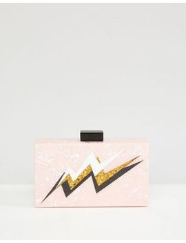 asos-lightning-bolt-marble-clutch-bag by asos-collection