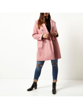 plus-pink-double-breasted-coat by river-island