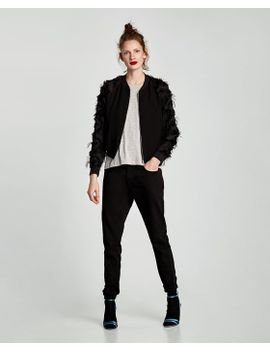velvet-and-lace-bomber-jacket by zara