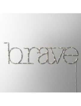 """Starry Light Wall Décor   """"Brave"""" by Restoration Hardware Baby And Child"""