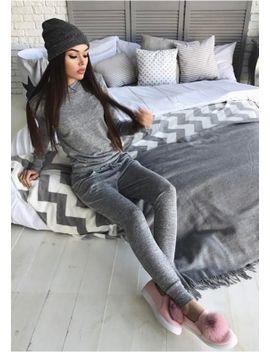 cd8e6c4dd92 Shoptagr | Casa Marl Grey Fine Knit Loungewear Tracksuit by Missy Empire