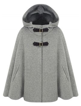 "<Span Itemprop=""Name"" Content=""Winter Wool Blend Hooded Cape Cloak Coat"">Winter Wool Blend Hooded Cape Cloak Coat</Span> by Oasap"