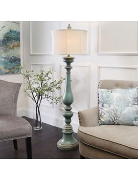 Shoptagr burks turquoise floor lamp by kirklands burks turquoise floor lamp by kirklands mozeypictures Images