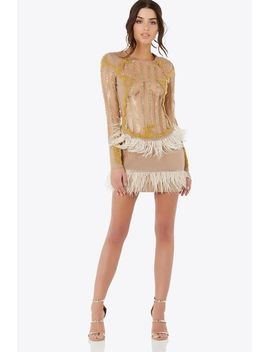 gold-swan-mini-dress by necessary-clothing