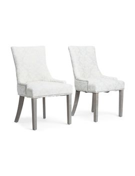 Set 2 Mckenzie Damask Chairs By Domain