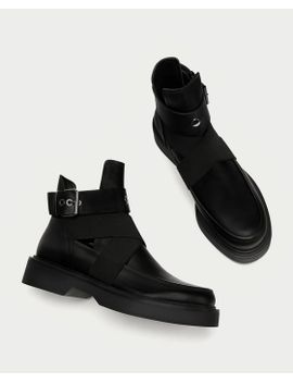 f27bf860f4d623 Shoptagr | Bottines En Cuir AjourÉes Bottes Et Bottines Chaussures ...