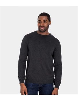 Mens Cashmere And Cotton Crew Neck Sweater by Wool Overs