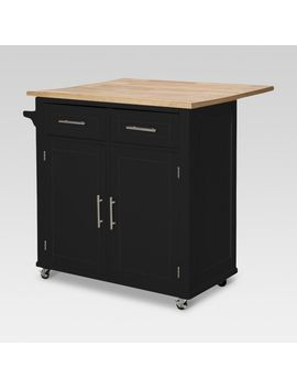 threshold kitchen island shoptagr large kitchen island with wood top and storage 15136