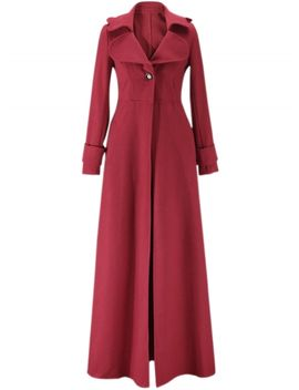 "<Span Itemprop=""Name"" Content=""Fashion Long Sleeve Floor Length Long Trench Coat"">Fashion Long Sleeve Floor Length Long Trench Coat</Span> by Oasap"