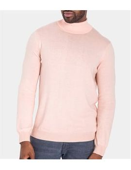 Mens Silk And Cotton Turtle Neck Sweater by Wool Overs