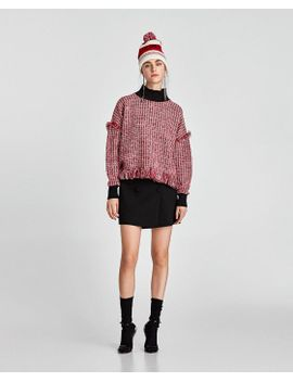 contrasting-tweed-top--shirts-i-topssale-woman by zara