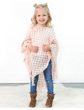 Judith Loose Knit Poncho | Kids by Cents Of Style