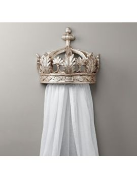 Pewter Demilune Canopy Bed Crown by Restoration Hardware Baby And Child
