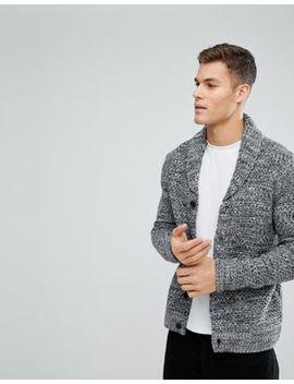 Cardigan With Shawl Collar In Grey - Grey Kiomi