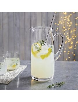 Cocktail Jug With Stirrer   Clear by The White Company