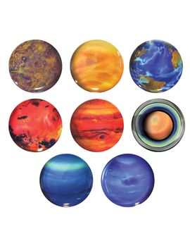 Planet Plates Set Of 8 by The Unemployed Philosophers Guild