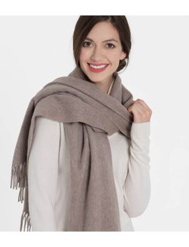 Pure Wool Fringed Scarf by Wool Overs