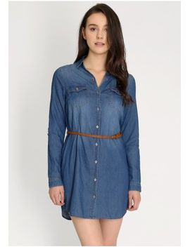 That Feeling Denim Shirt Dress by Ruche