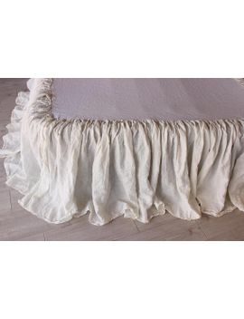 Ecozoneboutique Linen Bedskirt