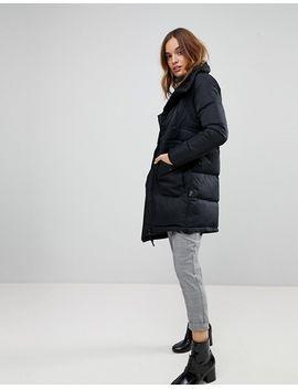 Down High Neck Padded Jacket - Black Vero Moda