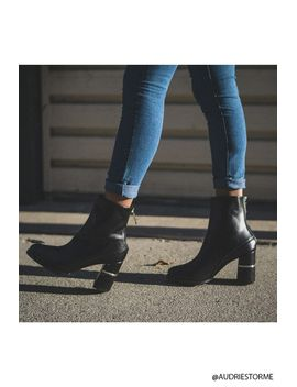 faux-leather-ankle-boots by forever-21