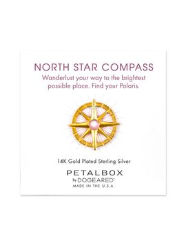 North Star Compass Token, Gold Plated by Dogeared