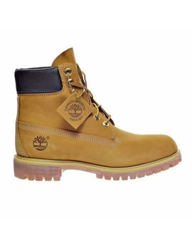new-mens-timberland-6-inch-waterproof-premium-boots-10061-wheat-nubuck by timberland
