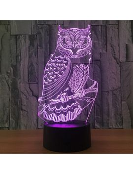 Owl Shape 7 Colors Change 3 D Touch Night Light by Dress Lily